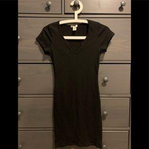 Fashion Nova black ribbed mini dress